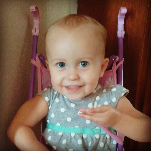 How I adore this little Princess! #practicallyperfectprincess #babyliese #babies #babiesofinstagram #love #motherhood #whatsimportant