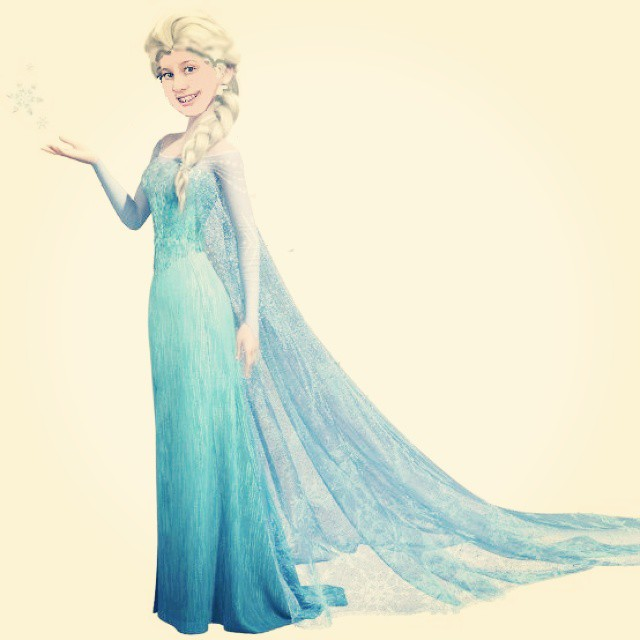 As a mini birthday present for my daughter I turned her into Elsa! No magic necessary, just my mad photo editing skills :) #Elsa #Frozen #birthday #happy #daughters #PicMonkey #justforfun