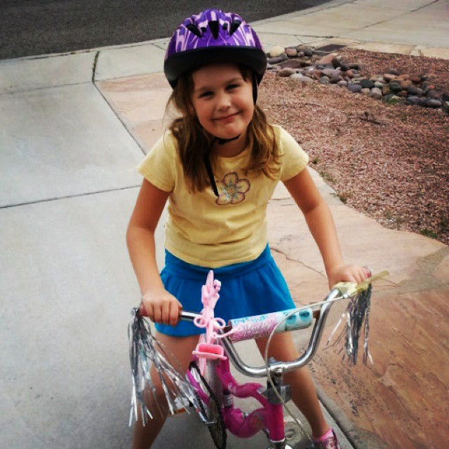 Tagged in #widn by @rufflesandrain I was just high fiving the 7 year who when finally ready to learn to ride her bike did it in 1 day #kidgram #happydance #practicallyperfectprincess What did you today @tamaracameraphoto @jnine0712 @leilanianderson