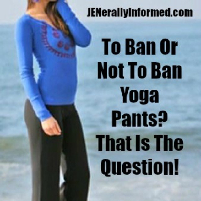 "Today on the blog is a heavily ""researched"" journalistic piece about the #yogapants controversy. Oh and also covered is Communism and mumus. Would love to have you come add to the discussion at the link in my profile #bloggerlife #bloggermoms #humor"
